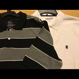 2 Men's Gap And Izod Polo Shirts Size Large